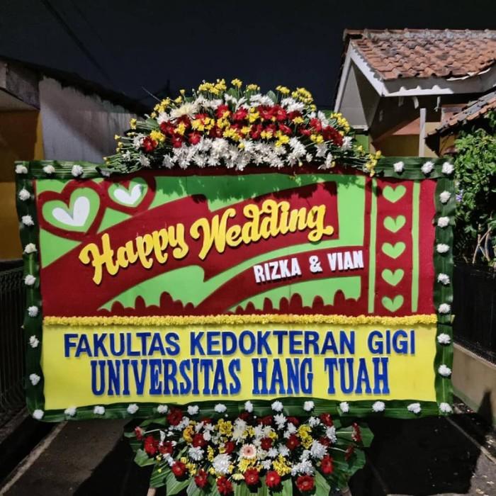Jual Papan Bunga Ucapan Selamat Menikah Jakarta Barat Golddiamond Tokopedia
