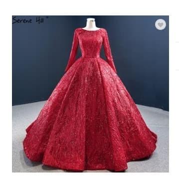 Jual Gaun Pengantin Gaun Pernikahan Merah Muslim Wedding Dress Muslim Red S Kota Tangerang Gaunwedding Com Tokopedia