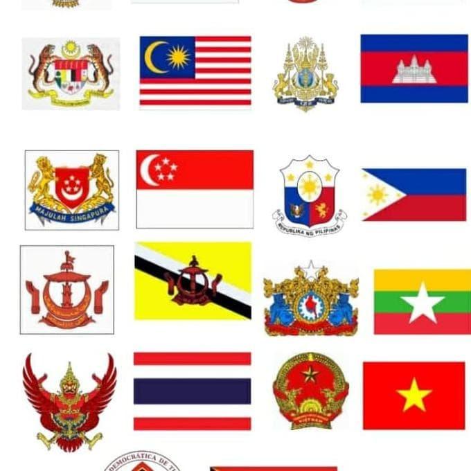 Jual Bendera Bendera Negara Asean Satu Set Berkualitas Jakarta Barat Santty B Tokopedia