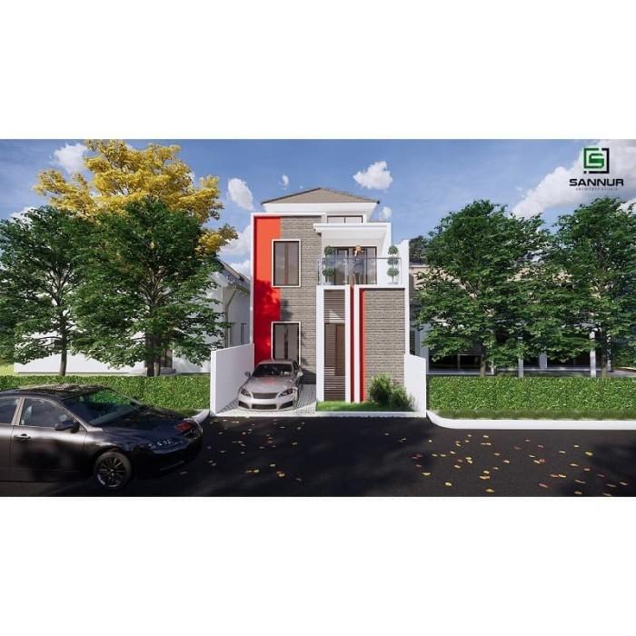 Jual Produk Jadi Desain Rumah Minimalis 2 Lantai Ukuran 6x12 5 Meter Kab Kediri Sannur Arsitek Tokopedia