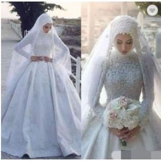 Jual Wedding Dresses With Veil Hijab Gaun Pernikahan Hijab Putih Xl Kota Tangerang Gaunwedding Com Tokopedia