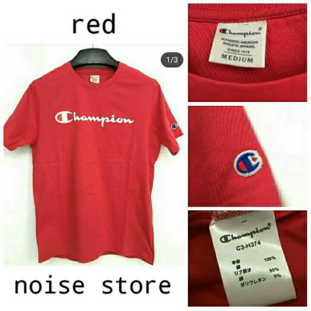 Jual Kaos Champion Merah Original Limited Kota Bandung Allbased Tokopedia