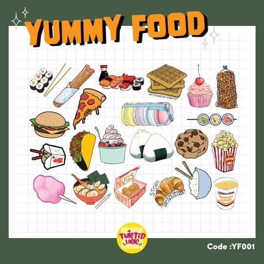 Jual Aesthetic Sticker Tumblr Yummy Food Sticker Kota Tangerang Selatan Twisted Logic Id Tokopedia