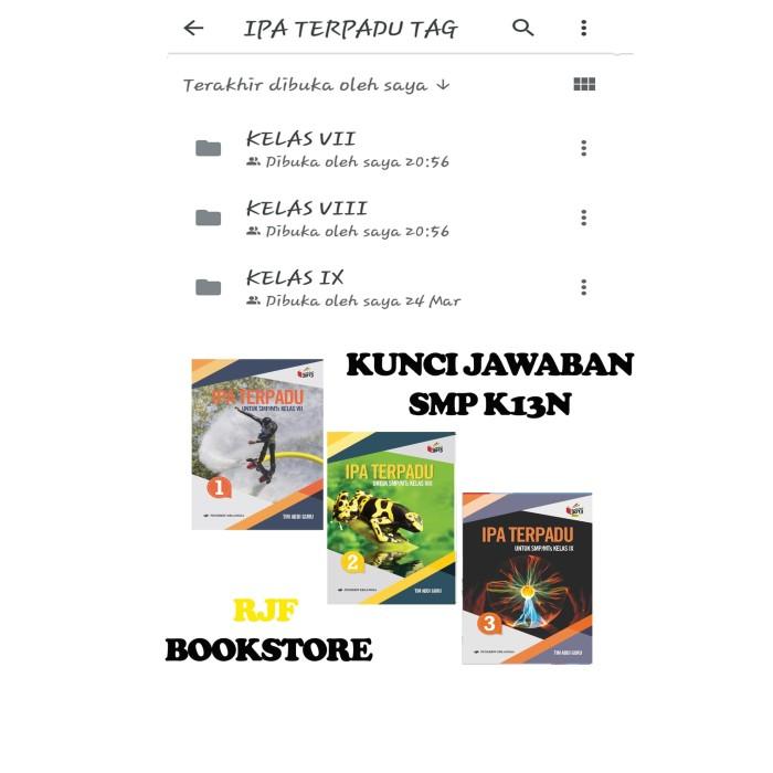 Jual Kunci Jawaban Ipa Terpadu Tim Abdi Guru Smp K13n Kls 1 3 Erlangga Jakarta Timur Rjfstore Tokopedia