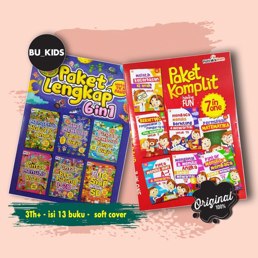 gambar Buku Belajar Anak Paud – Tk, Paket lengkap, isi 13