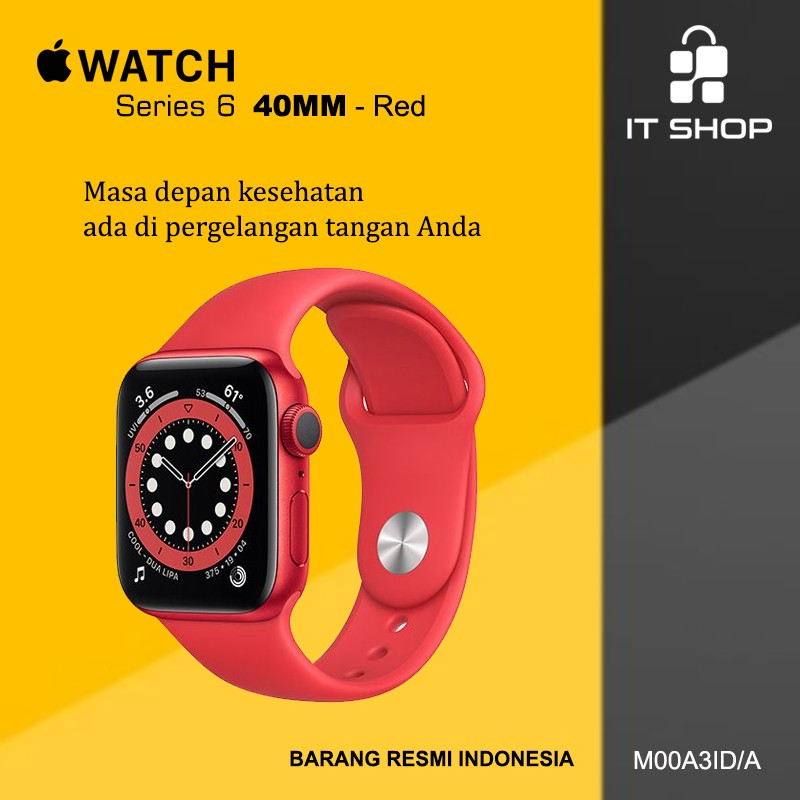 Apple Watch Series 6 - 40mm M00A3ID/A Red Image