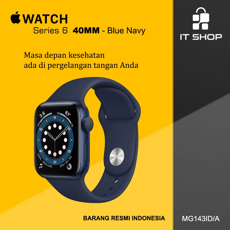 Apple Watch Series 6 - 40mm M00A3ID/A Blue Image