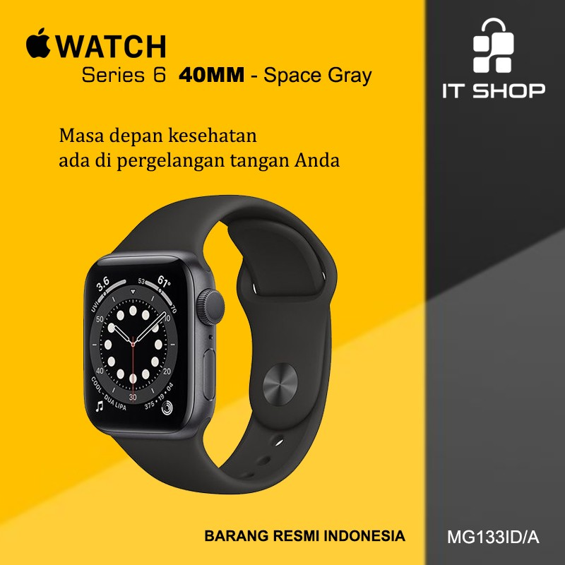 Apple Watch Series 6 - 40mm M00A3ID/A Space Gray Image