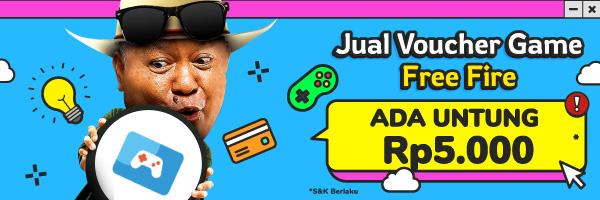 Voucher Game Free Fire: Untung Hingga Rp5.000